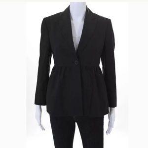 Stella McCartney dark gray peplum blazer size 44